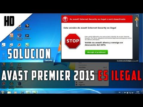SOLUCIÓN: Quitar mensaje de avast premier 2015 ilegal | 2015 | Windows 7,8,8.1 | HD