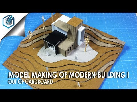 MODEL MAKING OF MODERN ARCHITECTURAL BUILDING|out of cardboard | time saving and easy way.