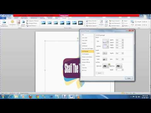 How to add background image in ms word