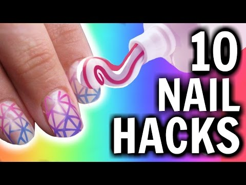 10 Nail HACKS You've NEVER Seen Before!!