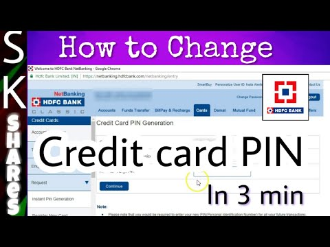 How to change HDFC Credit card PIN using Netbanking in 3 min