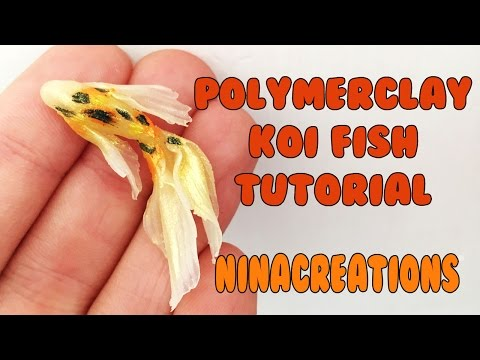KOI FISH Polymerclay TUTORIAL - NinaCreations