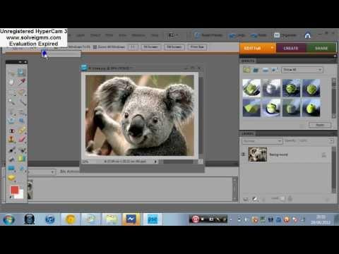 Adobe Photoshop Elements 8 tutorial part 1/3