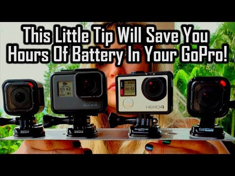 This Little Tip Will Save You Hours Of Battery In Your GoPro!