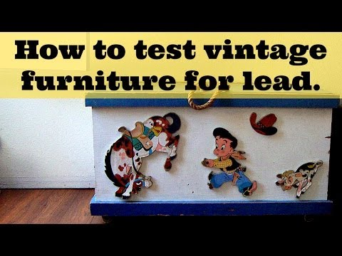 How to Test for Lead Paint - using an at-home lead testing kit on vintage furniture