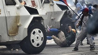 Venezuela National Guard Run Over Protesters