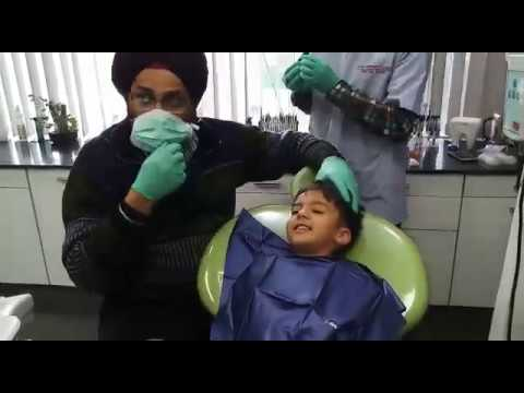 Pedo Child Patient Aseem by Dr. Sarabjeet Singh at The Perfect Smile dental Clinic, Chandigarh