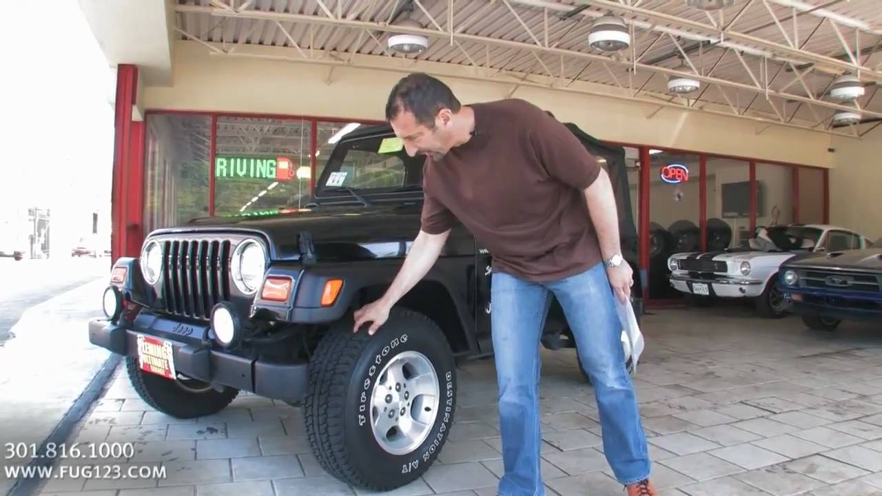 2002 Jeep Wrangler 4x4 Sport for sale with test drive, driving sounds, and walk through video