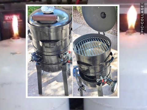 Propane Tank Smoker Build / Grill Do IT Yourself