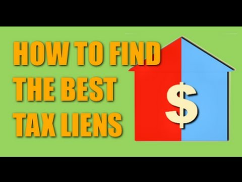 Investing in Tax Lien Certificates and Tax Sales - How To Find the Right Sale to Invest In