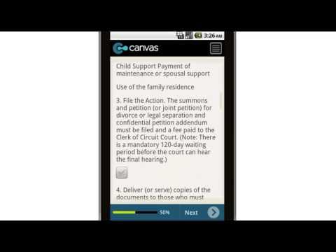Canvas 10 Basic Steps for Getting a Divorce or Legal Separation Mobile App