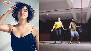 VIRAL: Dangal Girl Sanya Malhotra DANCE Moves With Choreographer Shazeb Sheikh | Bollywood Live