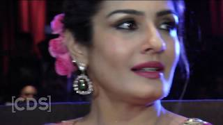 Raveena Tandon Hot Navel Exposed, Oops Moment In Hot Saree !!