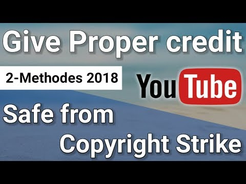 How to Give Proper Credit to Original Owner | Safe Youtube from Copyright Strike