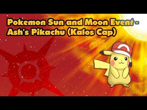Pokemon Sun and Moon Event - Ash's Pikachu (Kalos Cap)
