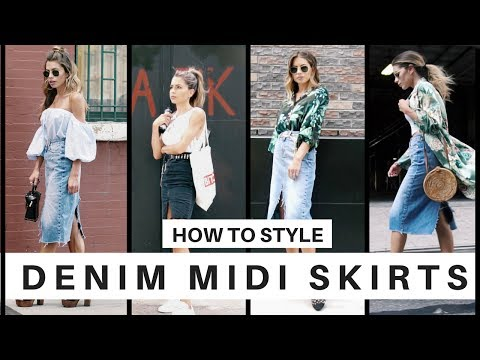 How to Style: Denim Midi Skirts for Summer