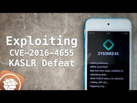 Exploiting CVE-2016-4655 - Create Your Own iOS Jailbreak [Part 1] | Kernel Info-leak & KASLR Defeat