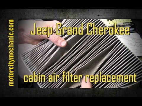 2011-2015 Jeep Grand Cherokee cabin air filter removal