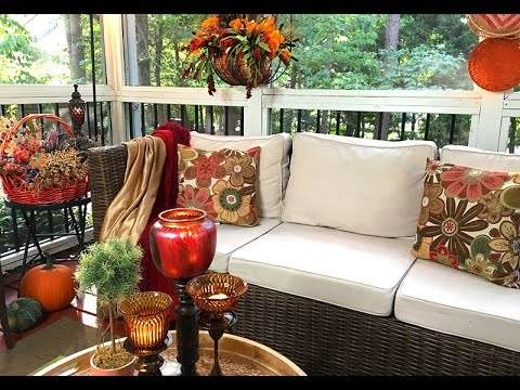 My Autumn Screened Porch | Decorating with Good Will Finds🍁