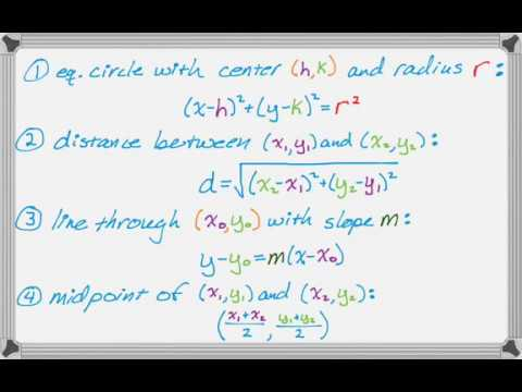 Equation of a Circle Through Three Points