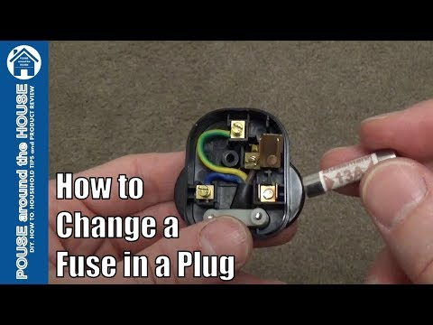 How to change a fuse in a plug. Replace a 3 pin plug fuse