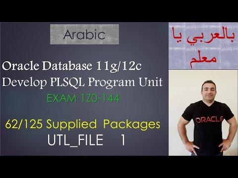 62/125 Oracle PLSQL: Supplied  Packages / UTL_FILE  1