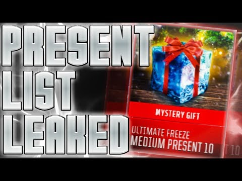 ALL PRESENTS! PRESENT LIST LEAKED!! MADDEN MOBILE 18! ULTIMATE FREEZE PRESENTS!