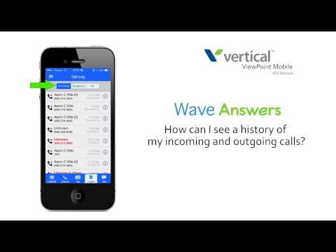 How can I see a history of my incoming and outgoing calls in ViewPoint Mobile on my Apple device