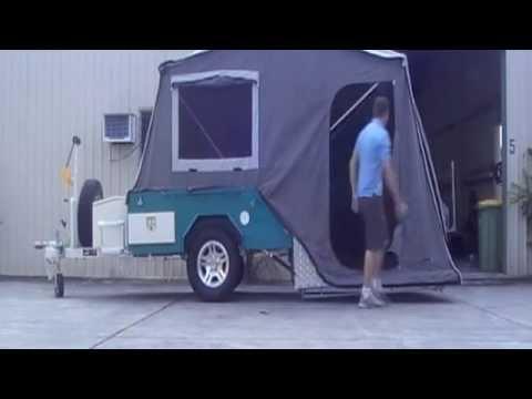 Hard Floor Camper Trailer Set-up/Pack-up- Broadwater Campers