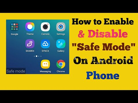 How to turn safe mode on & off in lenovo android phone
