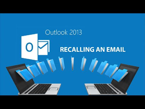 🔙Outlook 2013 Recalling an Email📧