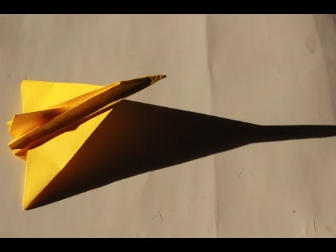 How to make a cool paper plane origami: instruction| Dagger