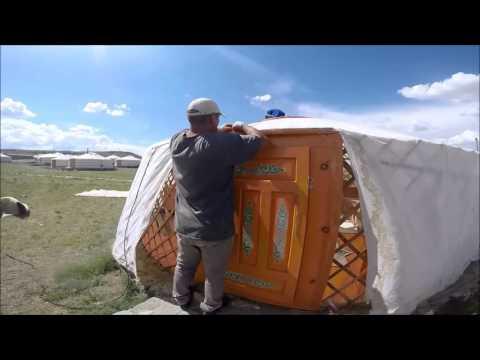 30 second timelapse Mongolia yurt building