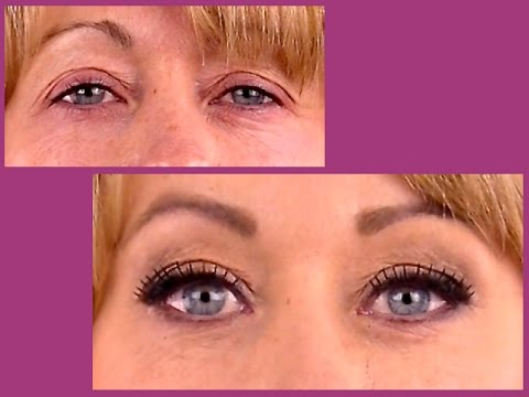 How to cut, glue, apply, lift, and blend in false strip eyelashes.