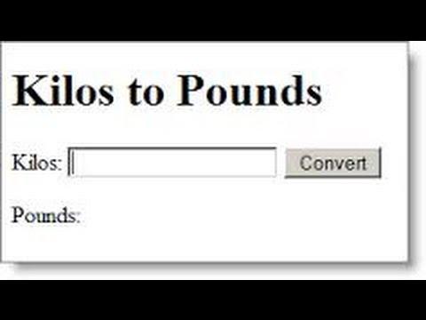 kilos to pounds