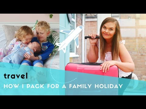 PACKING FOR KIDS - FAMILY HOLIDAY - HOW I PACK FOR 3 KIDS - 6 YEAR OLD, TODDLER & BABY
