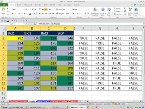 Excel Magic Trick 794: Conditional Formatting MAX or MIN or Top 3 Value/s In Row