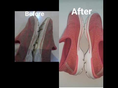 Diy# how to clean colored shoes at home without shoe cleaner