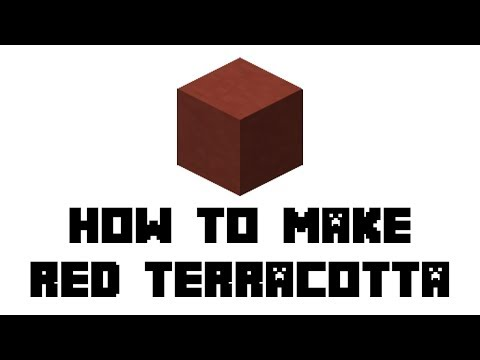 Minecraft Survival: How to Make Red Terracotta