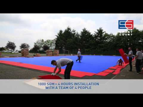 Sport Court® PowerGame™ - Outdoor Modular Sports Tiles