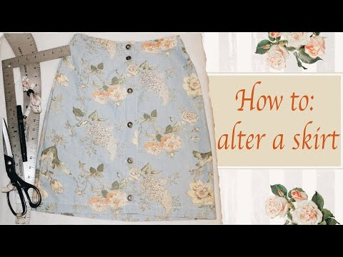 How to alter a skirt