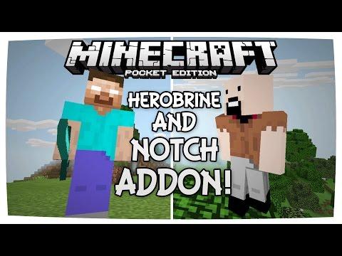 HEROBRINE AND NOTCH ADDON | Minecraft PE Addons | 0.16.0