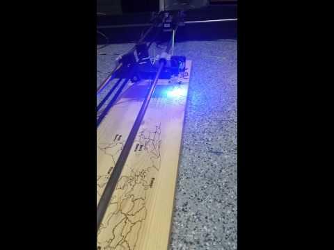DIY 3 Watt Aruidno driven Laser Cutter / Engraver