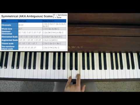 Jazz Improvisation - Symmetrical Scales (AKA Ambiguous Scales)