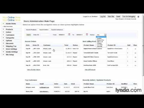 ecommerce php framework, Managing orders