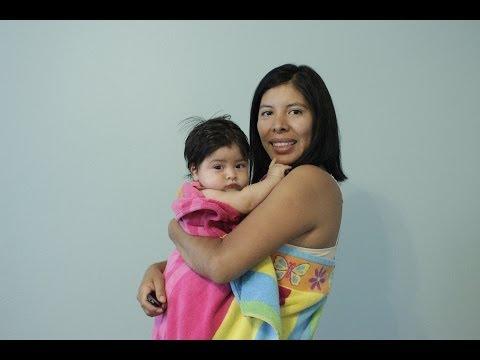 DIY Baby Bath Apron Towel Tutorial - Beach towel re-purpose
