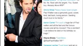 Paul Walker Death  Stars Tweet Their Goodbyes to the Fast & Furious Actor #R I P to Paul Walker