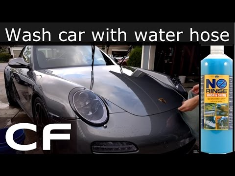 Rinseless Car Wash - How to wash car without water hose (Optimum No Rinse - ONR)