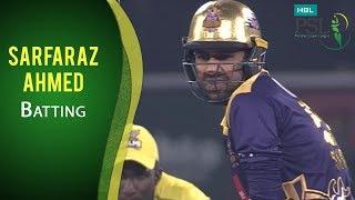PSL 2017 Final Match: Quetta Gladiators vs. Peshawar Zalmi - Sarfaraz Ahmed Batting