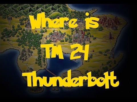 Where Is: TM 24 - Thunderbolt (Pokemon Fire Red/Leaf Green)